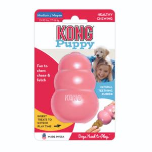 Kép 1/4 - kong-puppy-kutyajatek-rozsaszin-min